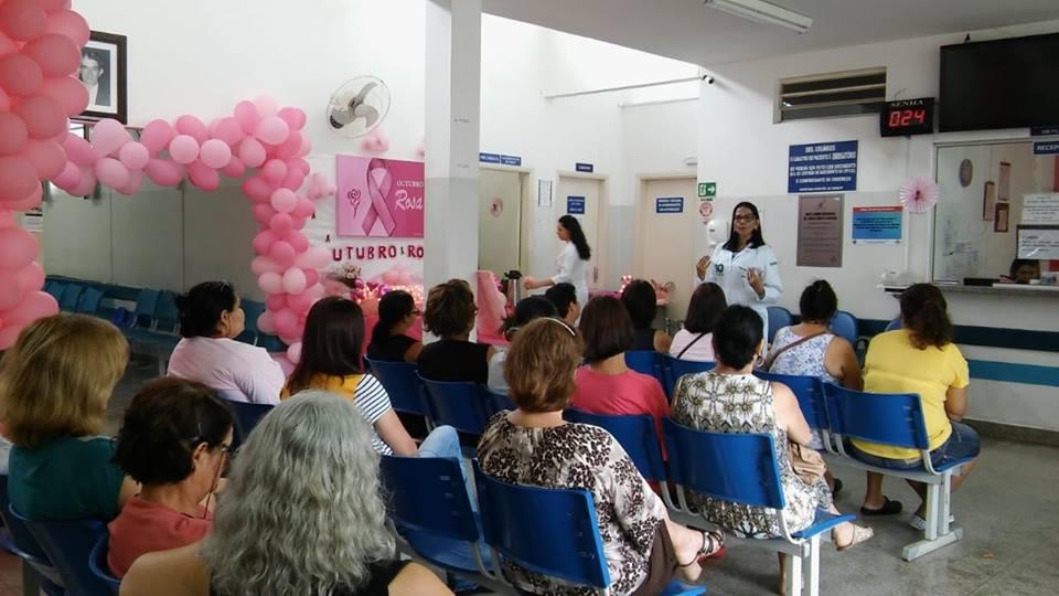 Unidades de Saúde se unem para realizar a campanha do Outubro Rosa