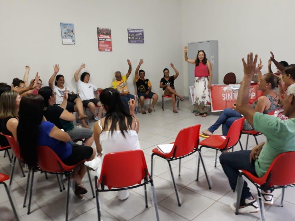 Assembleia delibera reivindicações dos servidores de Mirante para 2019