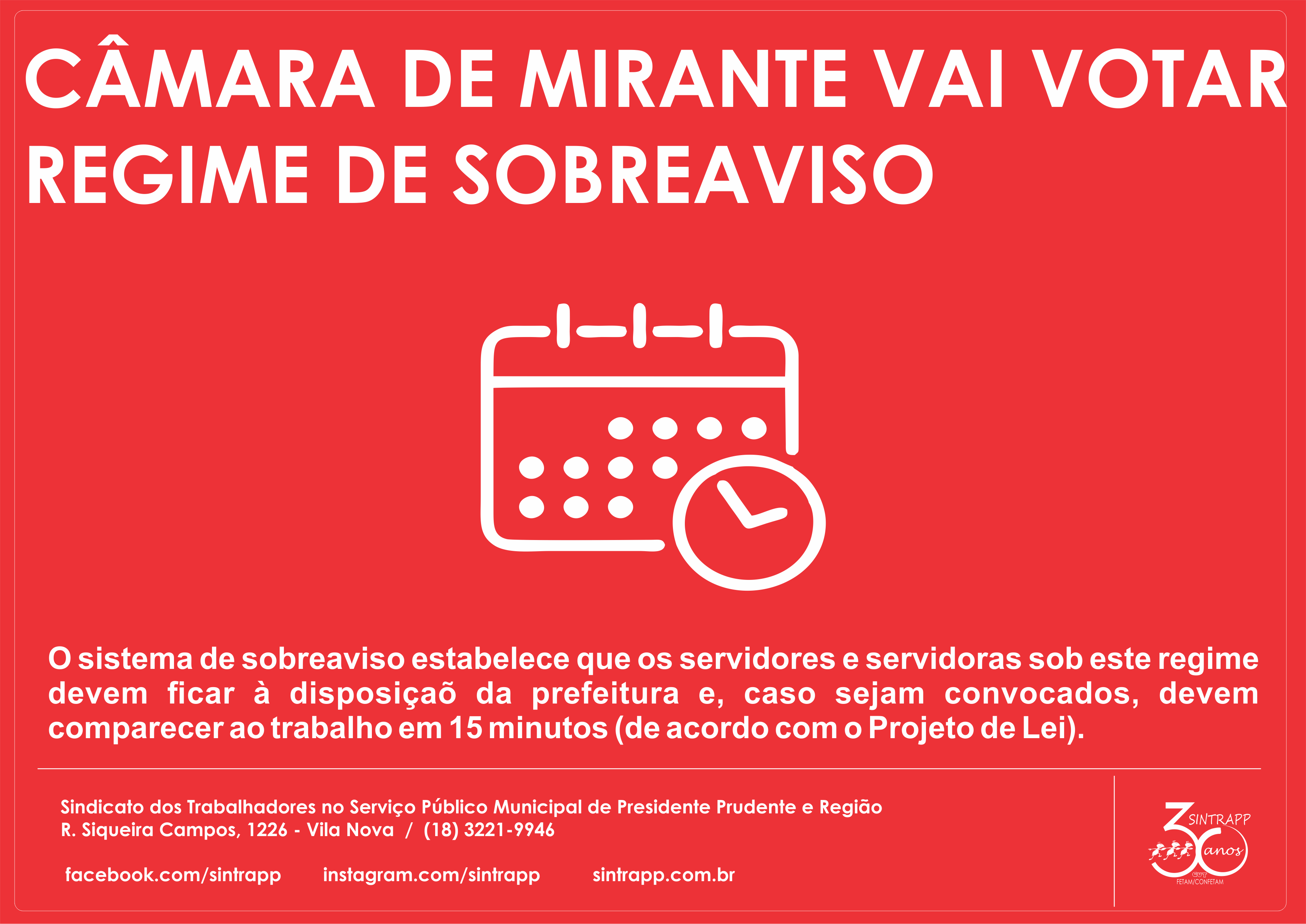 Atenção servidores de Mirante!