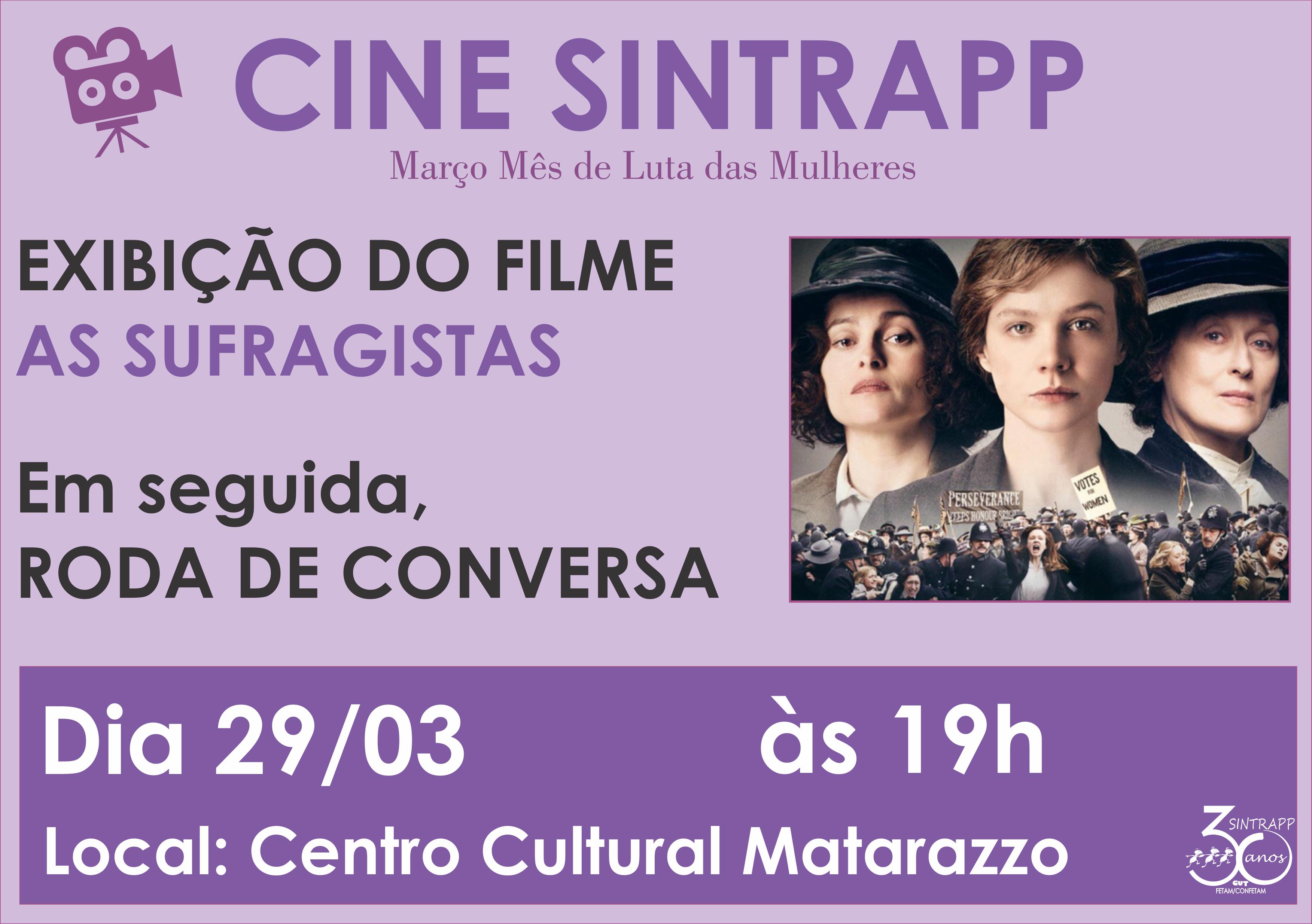 Cine SINTRAPP: As Sufragistas