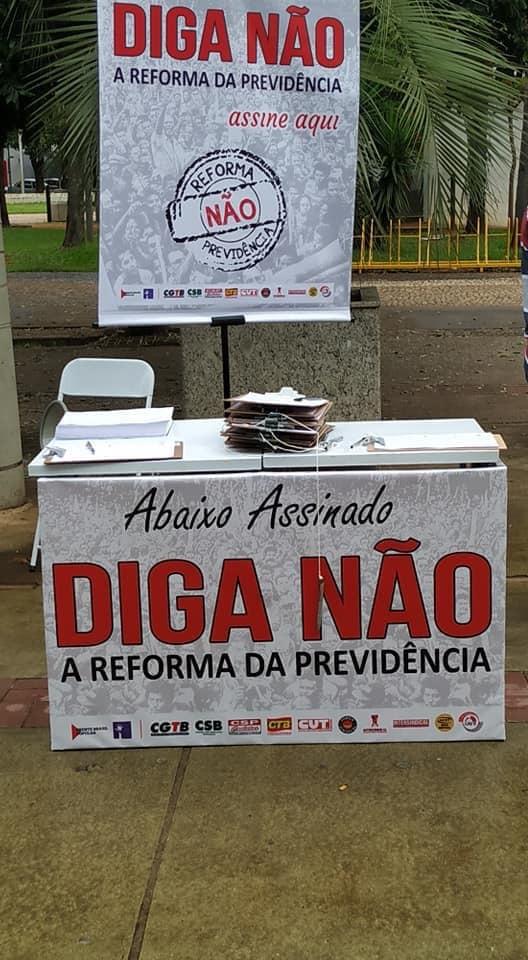 Sintrapp coleta 2 mil assinaturas contra a Reforma da Previdência