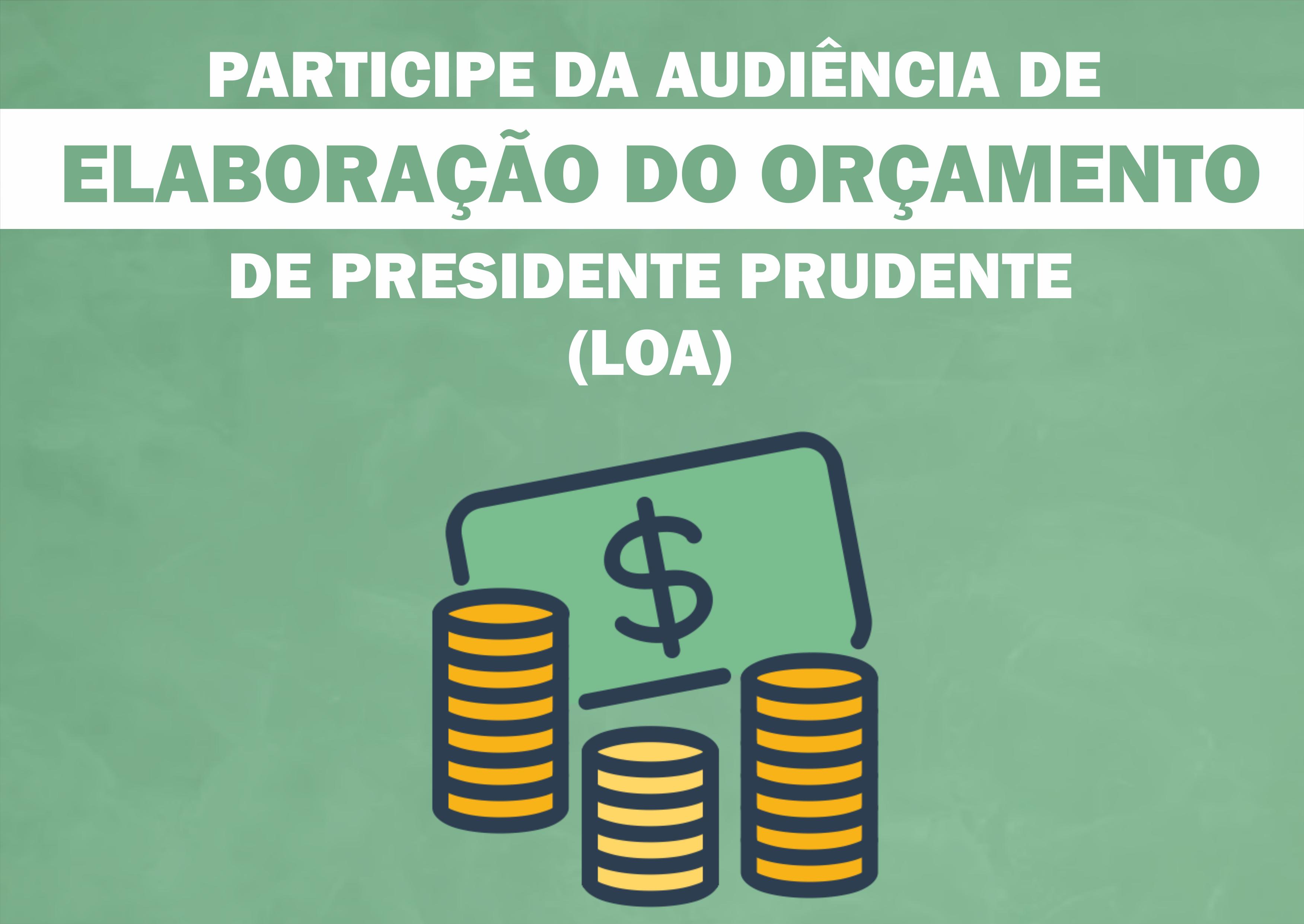 Administração promove audiência sobre orçamento para 2020