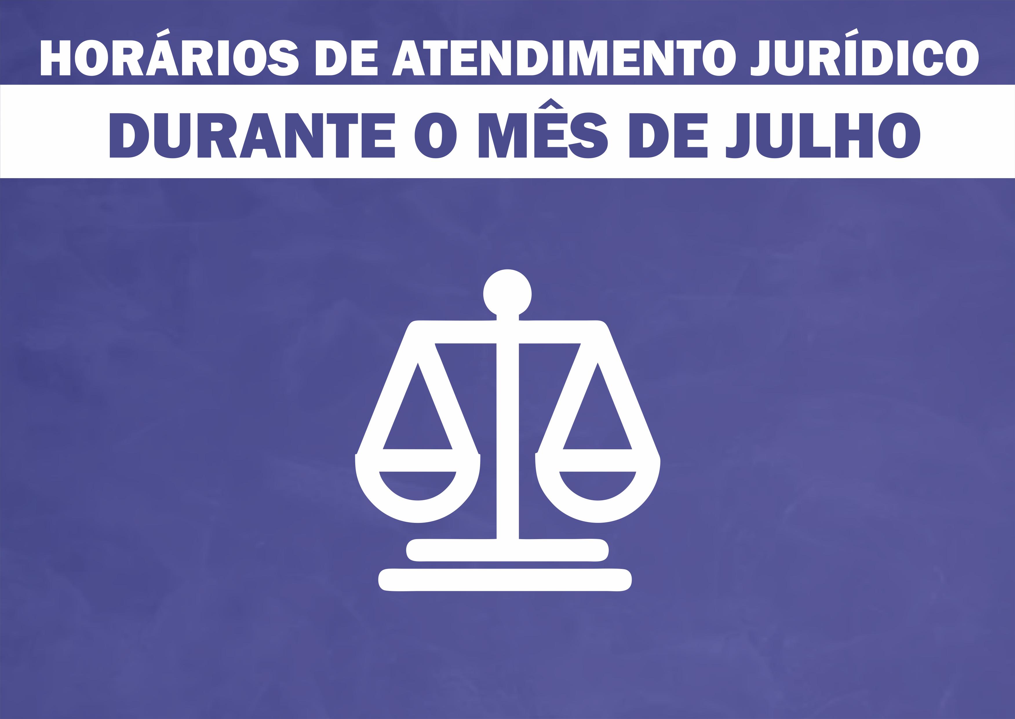 Informe do departamento jurídico sobre os dias de atendimento