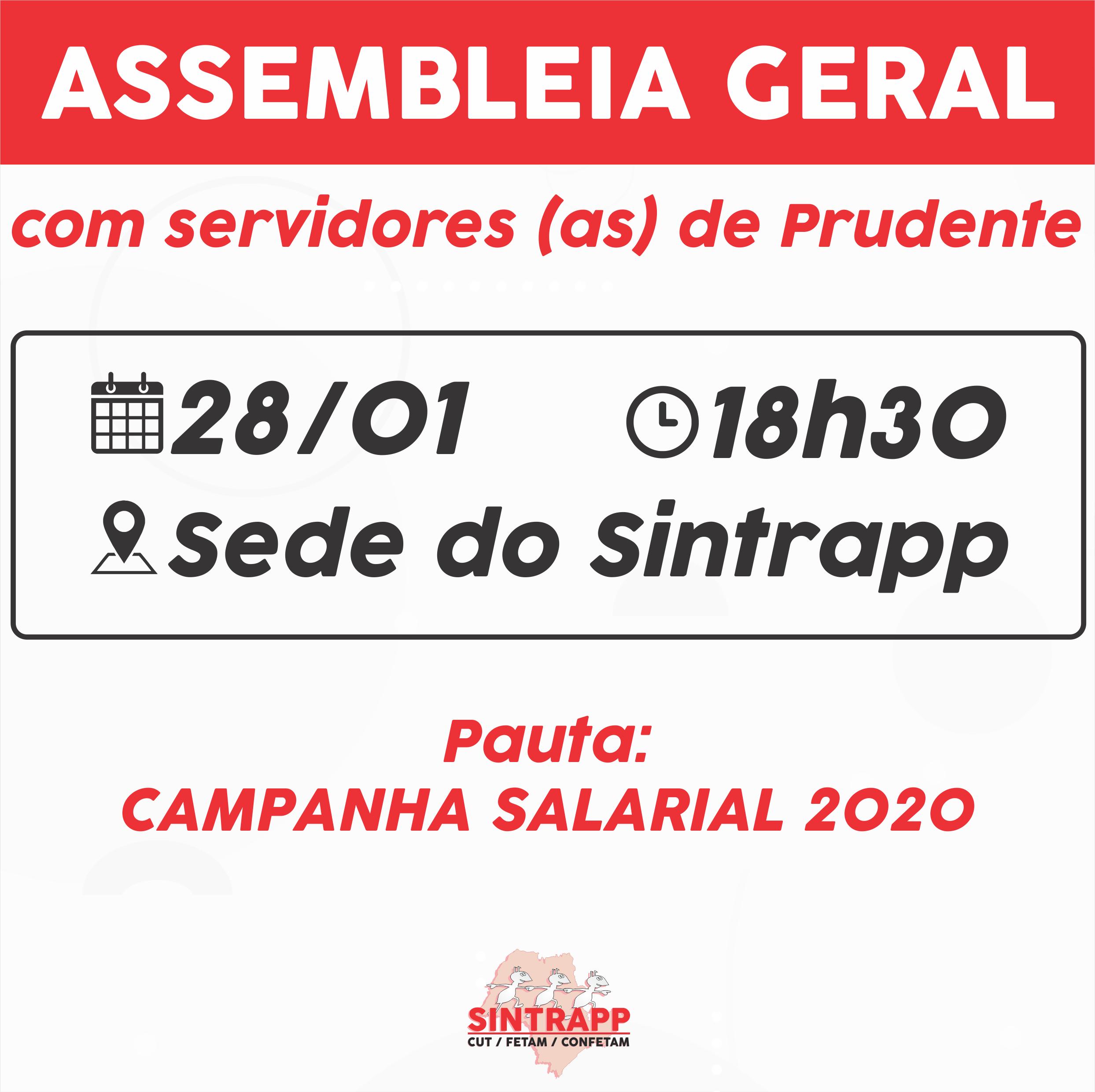 Sindicato convoca assembleia para campanha salarial 2020