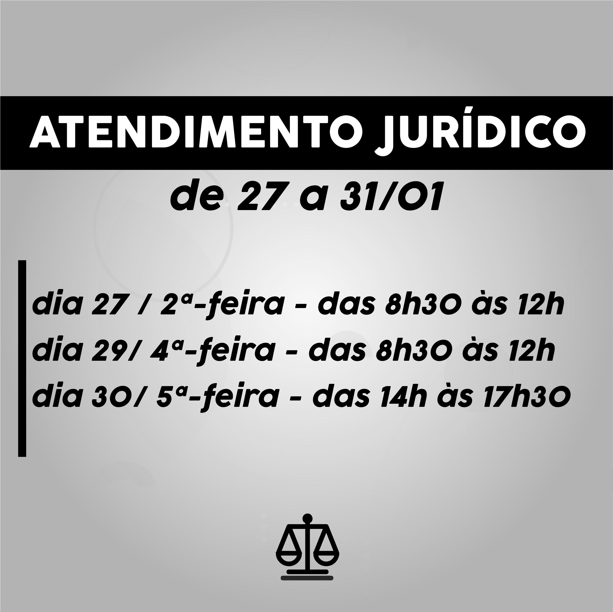 Atendimento jurídico: horários