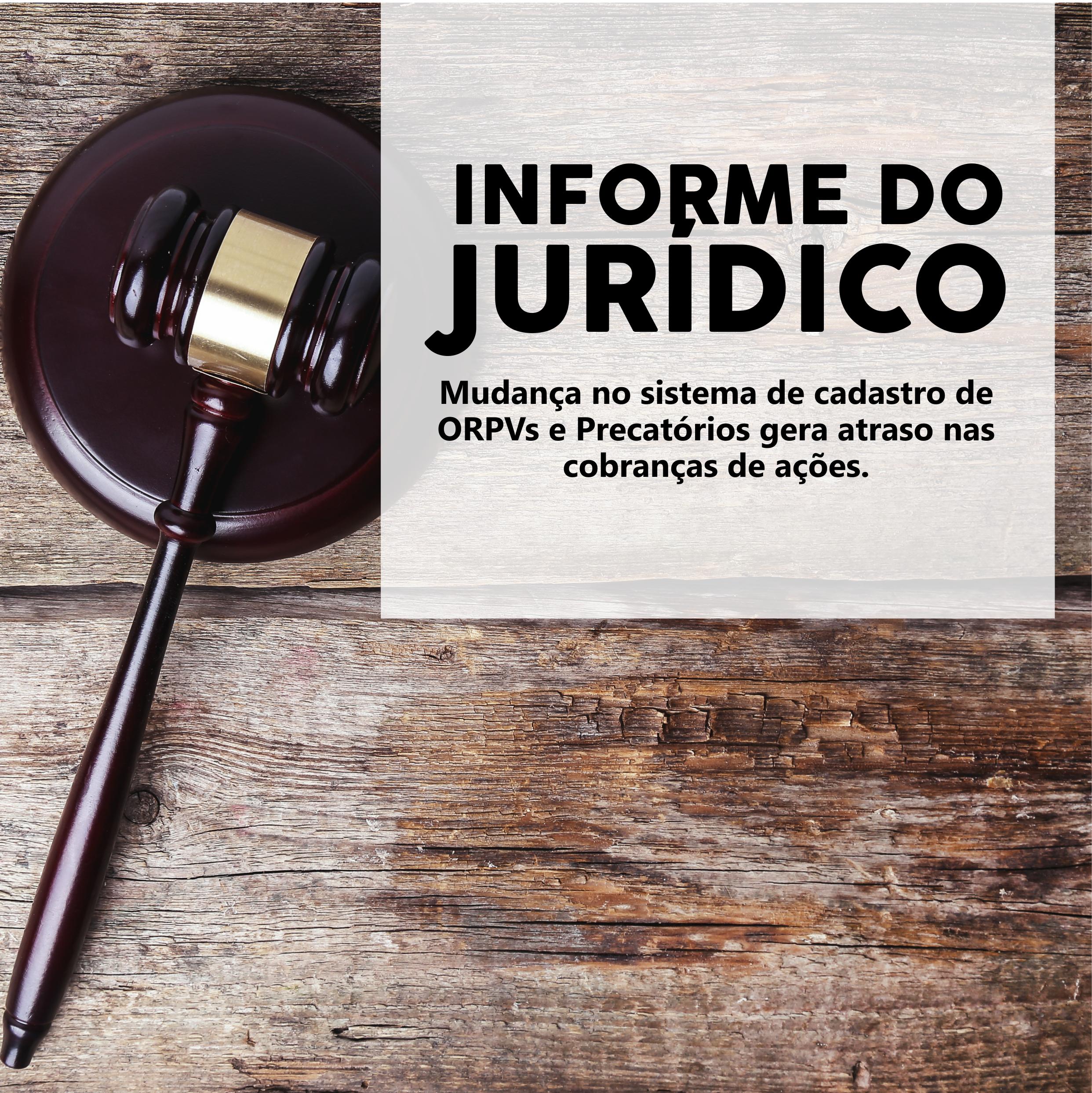 Informe do departamento jurídico sobre pagamentos de ações