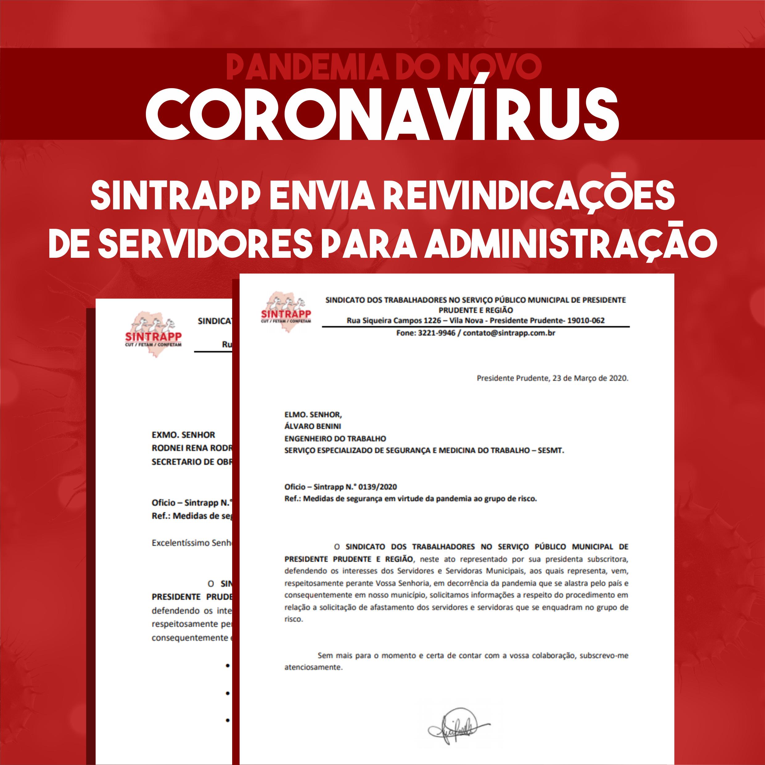 Sindicato cobra ações de proteção à saúde dos servidores