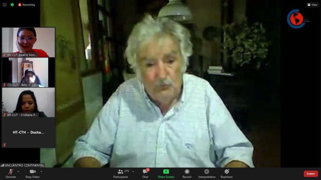 Diretora do Sintrapp participa de evento com Pepe Mujica