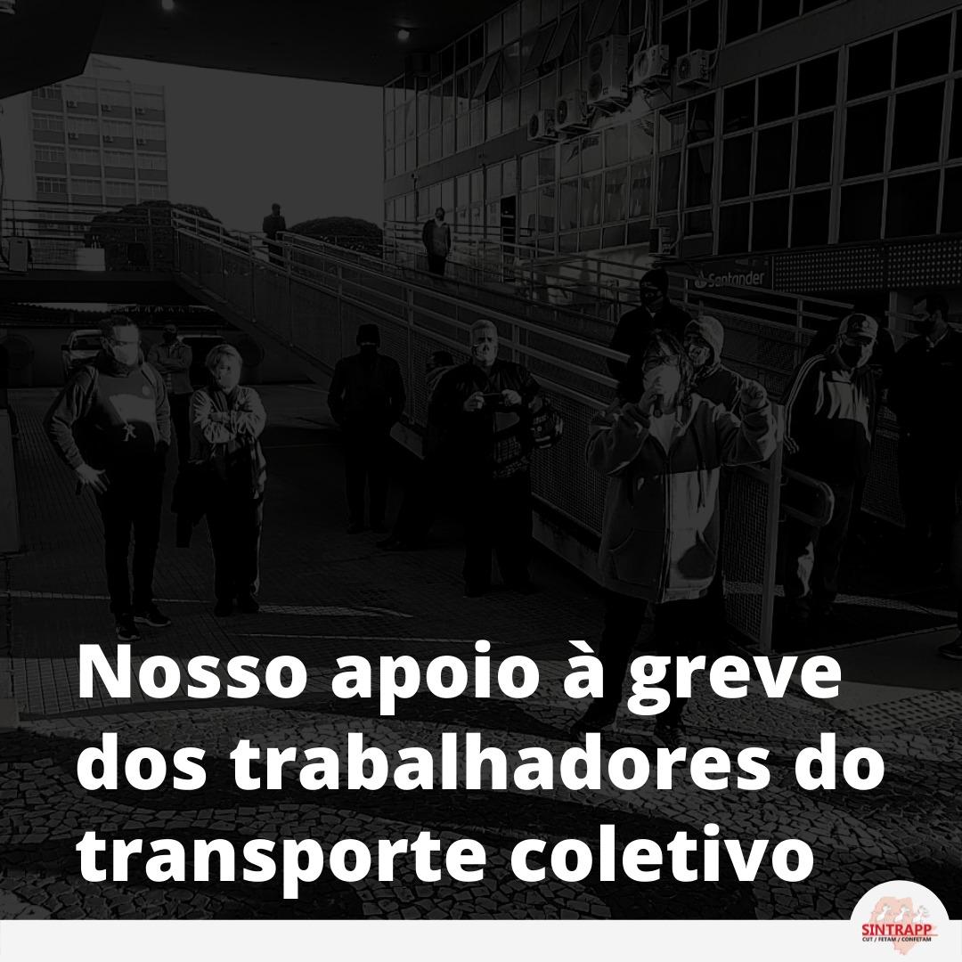 Nota de apoio à greve dos trabalhadores no transporte coletivo de Prudente
